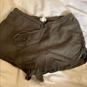 Olive green shorts- loose fit, XS